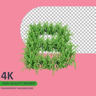 3d 모델 렌더링 잔디 알파벳 대문자 b
