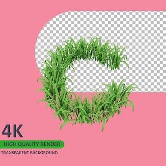 3d 모델 렌더링 잔디 알파벳 대문자 c