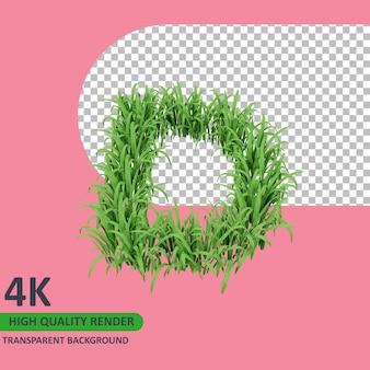 3d 모델 렌더링 잔디 알파벳 대문자 d