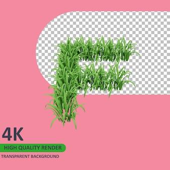 3d 모델 렌더링 잔디 알파벳 대문자 f