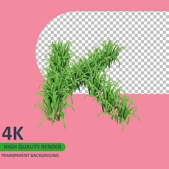 3d 모델 렌더링 잔디 알파벳 대문자 k