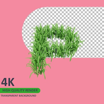 3d 모델 렌더링 잔디 알파벳 대문자 p