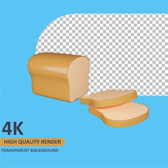 Рендеринг 3d модели белый хлеб