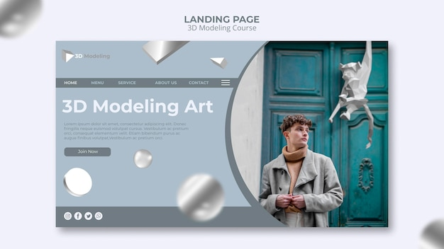3d modeling course landing page