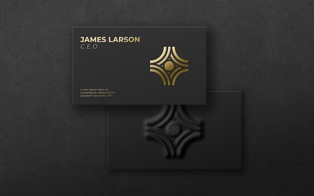 3 dのモダンなカードの高級ロゴのモックアップ