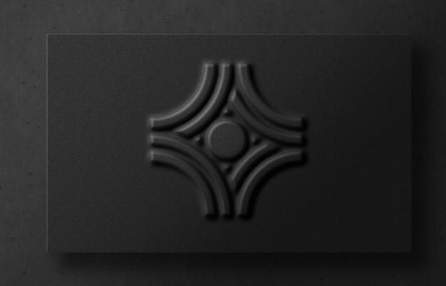 3d 현대 양각 된 카드 럭셔리 로고 이랑