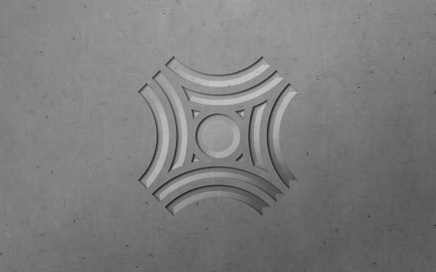 3d modern engraved luxury logo mockup