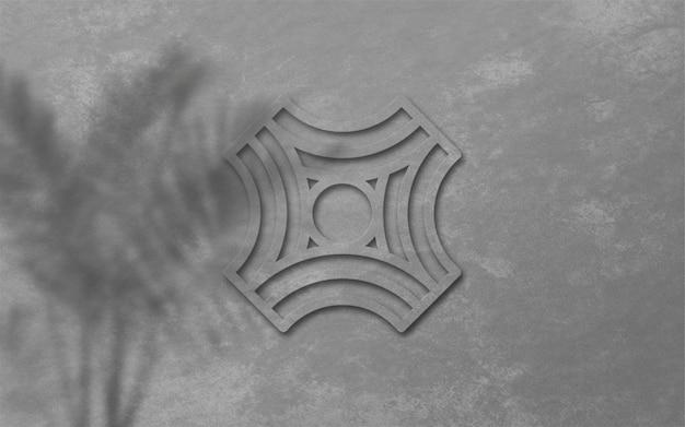 3d современный логотип макет