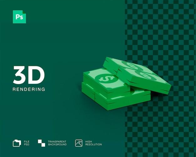 3d визуализация денег изолированные