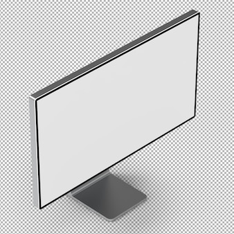 3d monitor isolated.