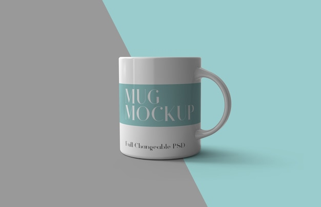 3d mug mockup design isolated