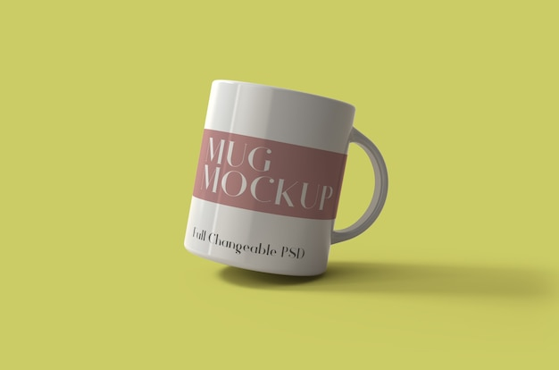 3d mug mockup design psd isolated