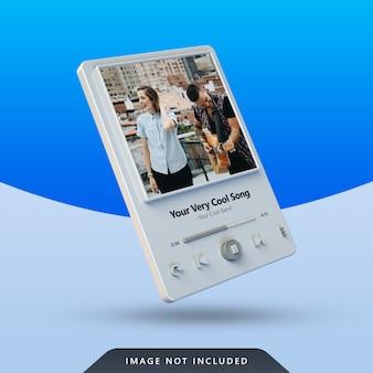 Дизайн 3d-плеера для публикации в социальных сетях