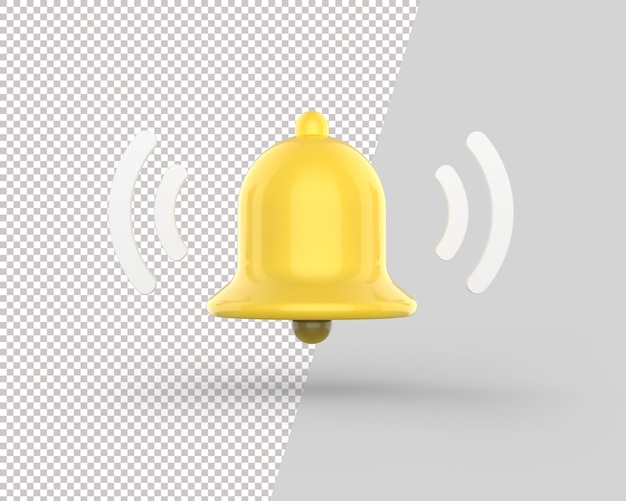 3d notification shaking bell icon