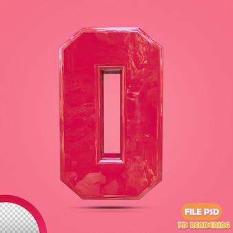 ピンク色の3d番号0