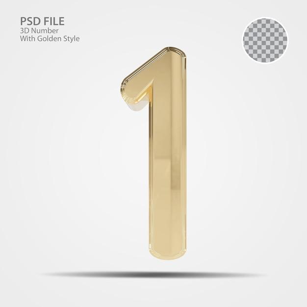 3d номер 1 золото