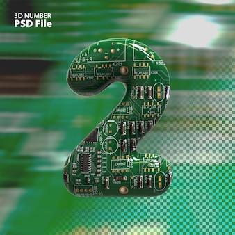 3d номер 2 текстуры электронных плат pcb рендеринга