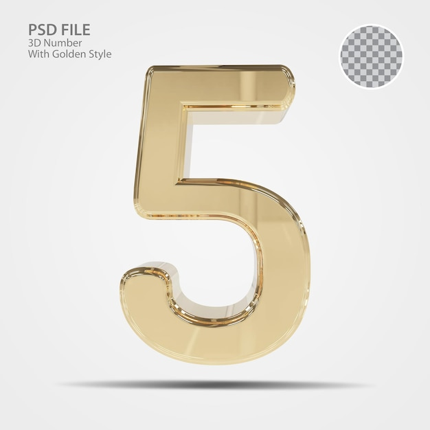 3d номер 5 золото