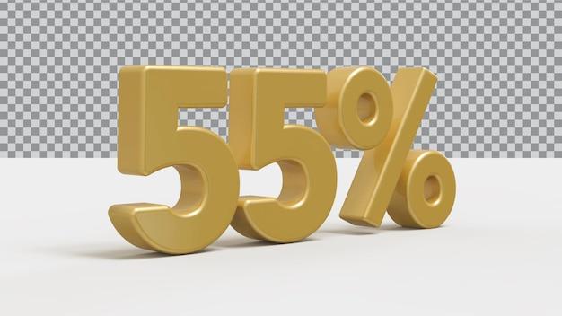 3d номер 5 процентов золотой роскоши рендера