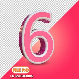 Выбор цвета для 3d-номера 6