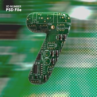 3d номер 7 текстуры электронных плат pcb рендеринга