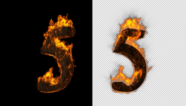火と炎の効果をキャッチする3d番号
