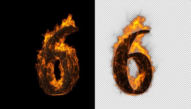 3d номер загорается и эффект пламени