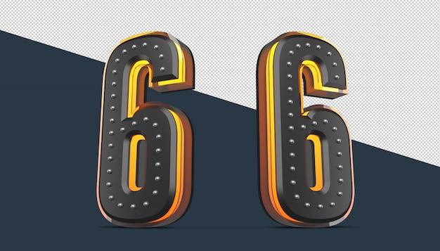 3d номер с булавкой и неоновым светом
