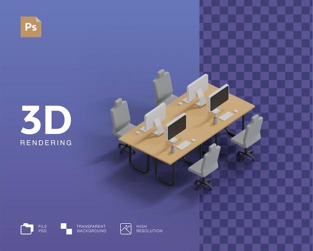 3d визуализация офисной иллюстрации