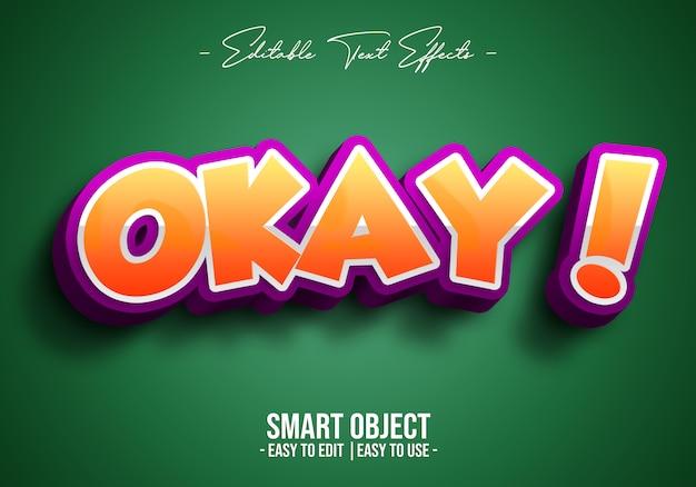 3d-okey-text-style-effect