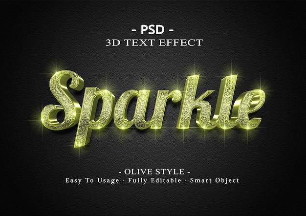 3d текстовый эффект оливкового блеска