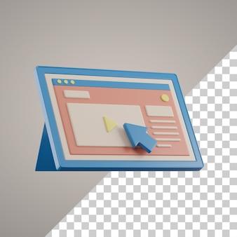 Apprendimento online 3d su tablet