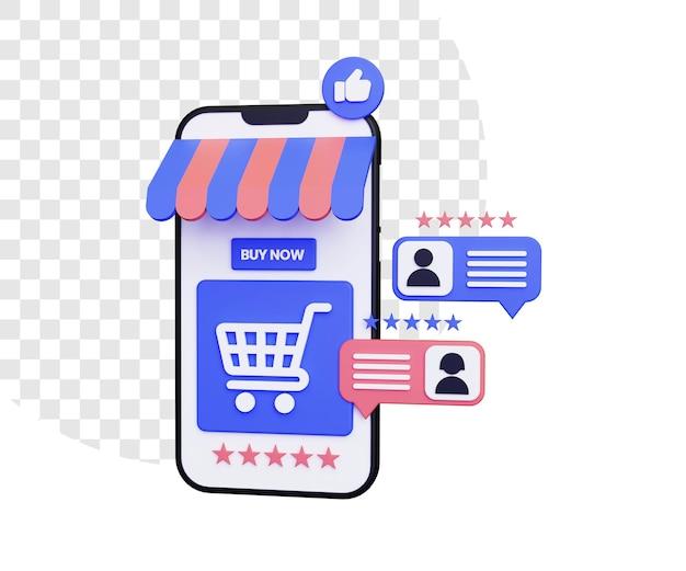 긍정적인 리뷰와 별점으로 3d 온라인 쇼핑