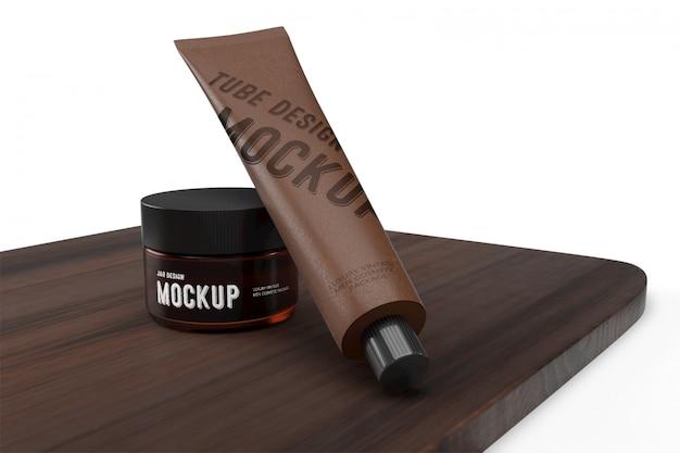 3d packaging design mockup of luxury vintage man cosmetic