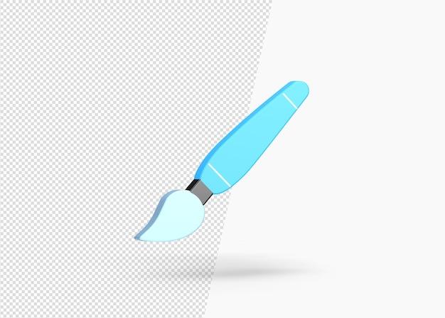 分離された3d絵筆