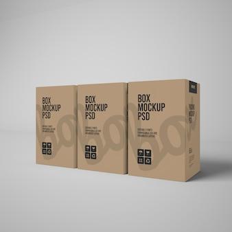 3d paper box mockup