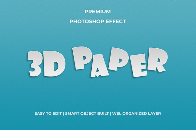 3d paper text style template