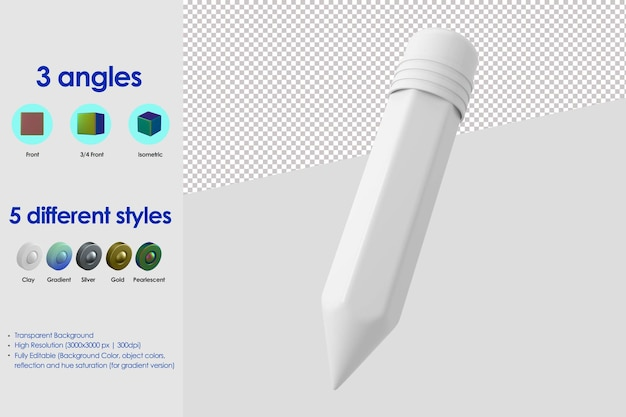 Значок 3d карандаш