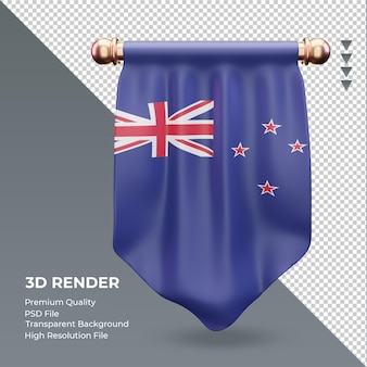 3d визуализация флаг новой зеландии вымпел