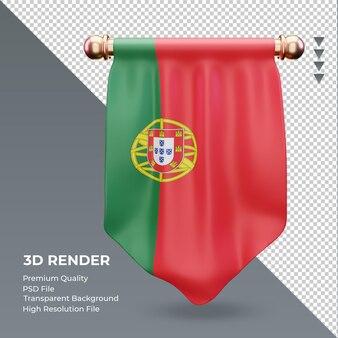3d визуализация флаг португалии вымпел