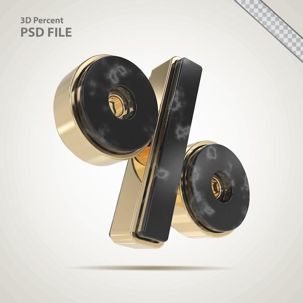 3d-процентный золотой с каменным стилем