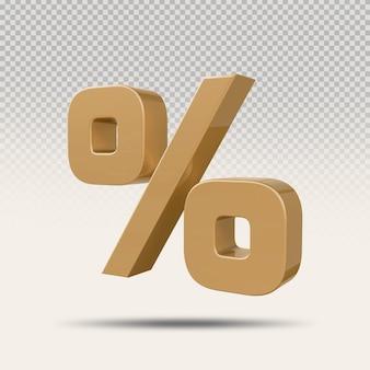 3d процентный золотой роскошный рендер