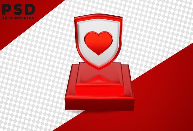 3d логотип перисаи любовь изолированные