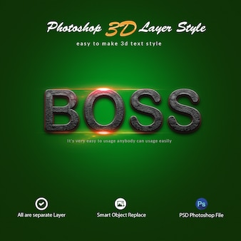 3d photoshop layer style text effects