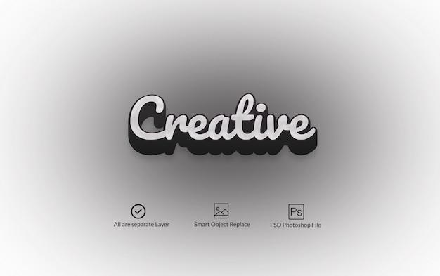 Черно-белый 3d photoshop text effect