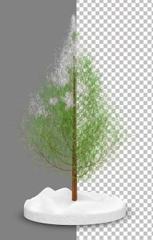 3d pinus tree winter season