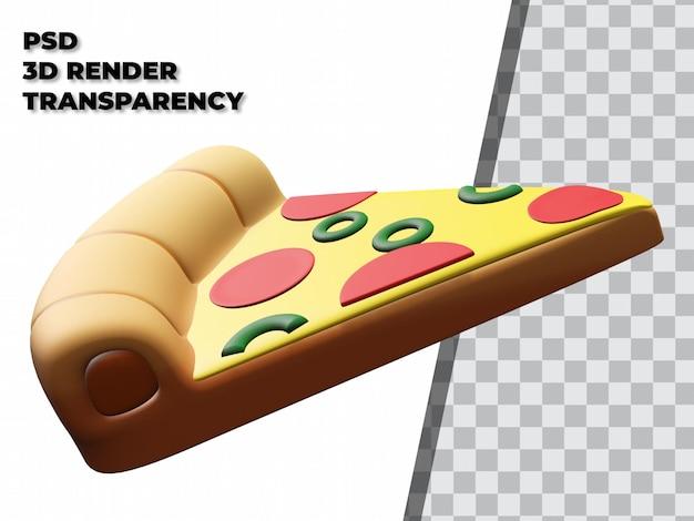 투명 배경으로 3d 피자