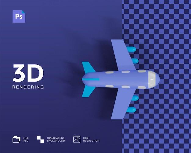 3d 비행기 그림 프리미엄 PSD 파일