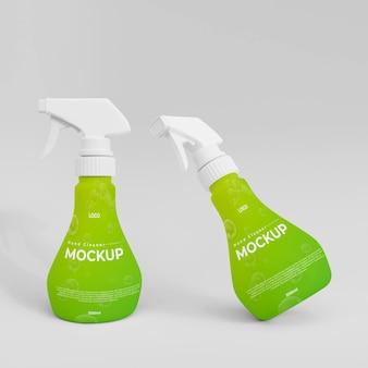 3dプラスチック手洗いスプレーボトルモックアップ