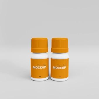 3d-макет пластиковой бутылки с лекарством